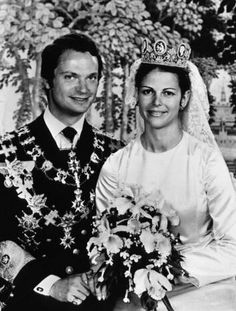 King Carl & Queen Sylvia Wedding Portrait